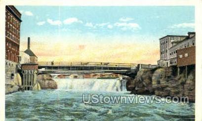 Mill Street Bridge & Falls - Watertown, New York NY Postcard