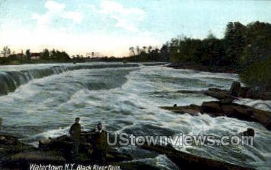 Black River Falls - Watertown, New York NY Postcard