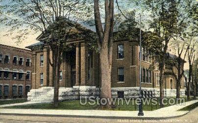 State Street School - Watertown, New York NY Postcard