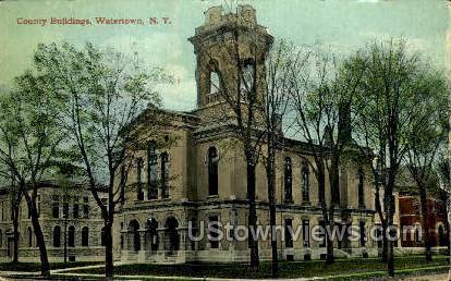 County Bldg - Watertown, New York NY Postcard