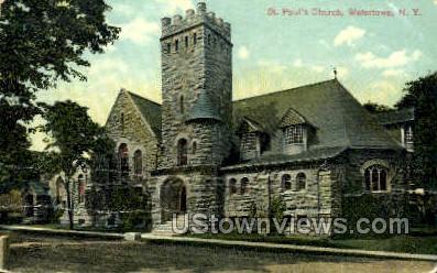 St. Paul's Church - Watertown, New York NY Postcard