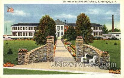 Jefferson County Sanitarium - Watertown, New York NY Postcard