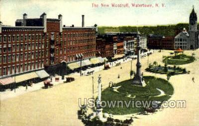 New Woodruff - Watertown, New York NY Postcard