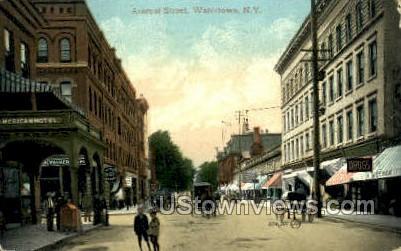 Arsenal Street - Watertown, New York NY Postcard