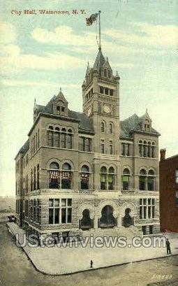 City Hall - Watertown, New York NY Postcard