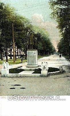 Flower Monument - Watertown, New York NY Postcard