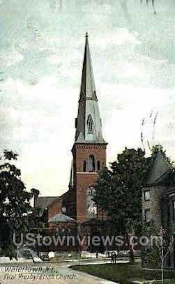 First Presbyterian Church - Watertown, New York NY Postcard