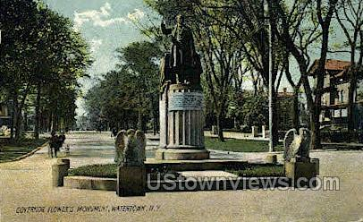 Gov. Flower's Monument - Watertown, New York NY Postcard