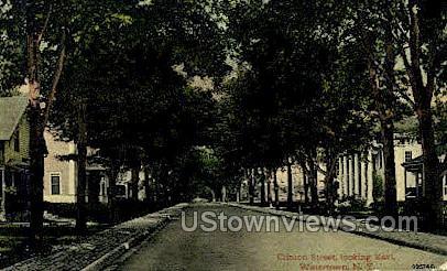 Clinton Street - Watertown, New York NY Postcard