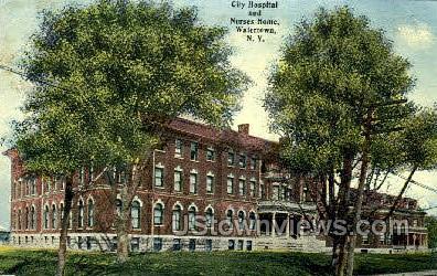 City Hospital & Nurses Home - Watertown, New York NY Postcard