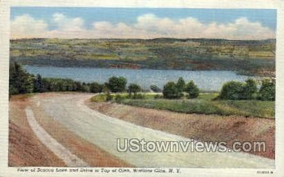 Seneca Lake & Drive - Watkins Glen, New York NY Postcard