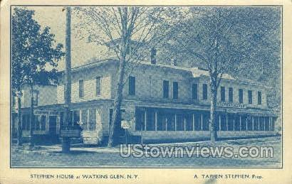 Stephen House - Watkins Glen, New York NY Postcard