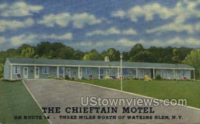 Chieftain Motel - Watkins Glen, New York NY Postcard
