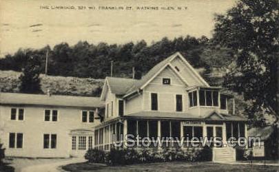 Linwood, Franklin St. - Watkins Glen, New York NY Postcard