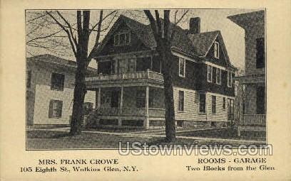 Mrs. Frank Crowe - Watkins Glen, New York NY Postcard