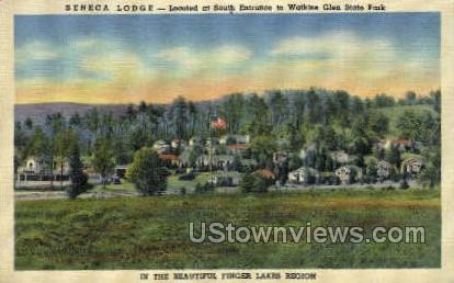 Seneca Lodge - Watkins Glen, New York NY Postcard