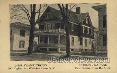 Mrs. Frank Crowe - Watkins Glen, New York NY Postcard