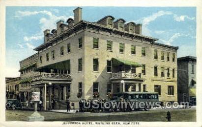 Jefferson Hotel - Watkins Glen, New York NY Postcard