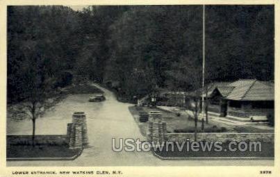 Lower Entrance - Watkins Glen, New York NY Postcard