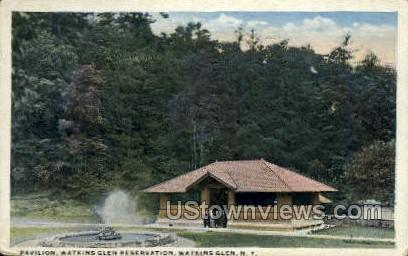 Pavilion, Watkins Glen Reservation - New York NY Postcard