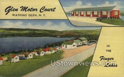 Glen Motor Court - Watkins Glen, New York NY Postcard