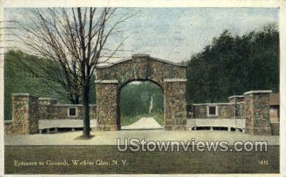 Entrance to Grounds - Watkins Glen, New York NY Postcard