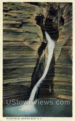 Pluto Falls - Watkins Glen, New York NY Postcard