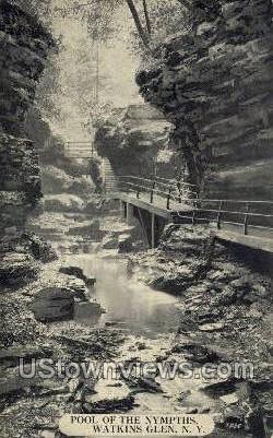 Pool of the Nympths - Watkins Glen, New York NY Postcard