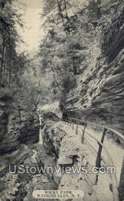 Rocky Path - Watkins Glen, New York NY Postcard