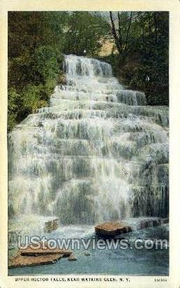 Upper Hector Falls - Watkins Glen, New York NY Postcard