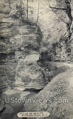 Pillar of Beauty - Watkins Glen, New York NY Postcard