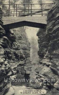 Cavern Gorge - Watkins Glen, New York NY Postcard
