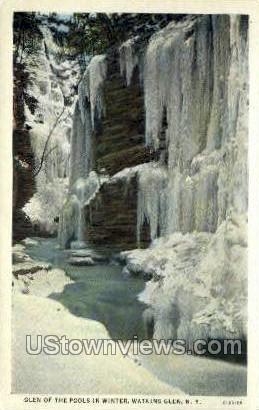 Glen of the Pools - Watkins Glen, New York NY Postcard