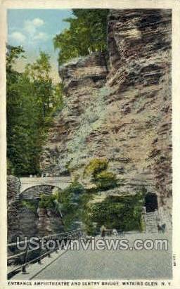 Entrance Amphitheatre - Watkins Glen, New York NY Postcard