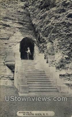 Entrance - Watkins Glen, New York NY Postcard