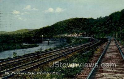 The Narrows - Waverly, New York NY Postcard