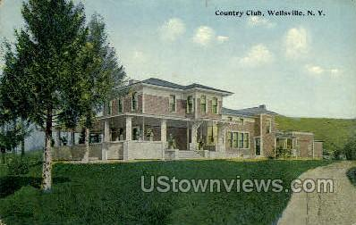 Country Club - Wellsville, New York NY Postcard