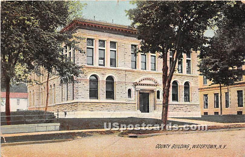 County Building - Watertown, New York NY Postcard