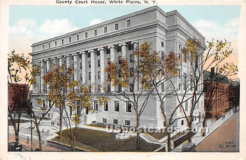 County Court House - White Plains, New York NY Postcard