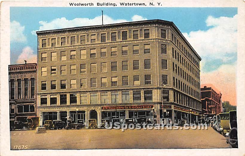 Woolworth Building - Watertown, New York NY Postcard