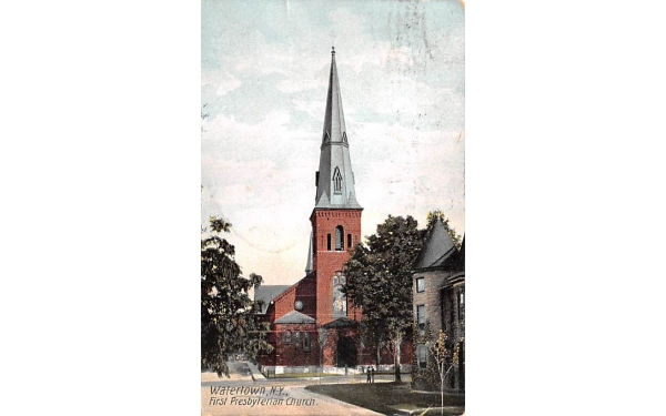 First Presbyterian Church Watertown, New York Postcard