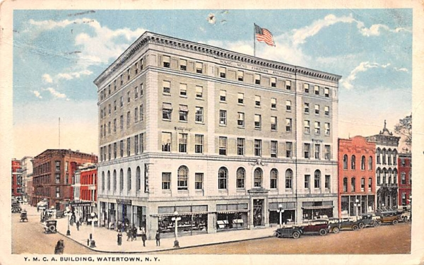 YMCA Building Watertown, New York Postcard