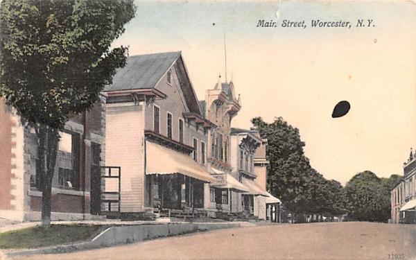Main Street Worcester, New York Postcard