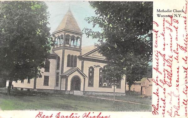 Methodist Church Worcester, New York Postcard