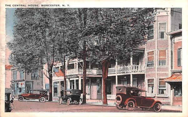 Central House Worcester, New York Postcard