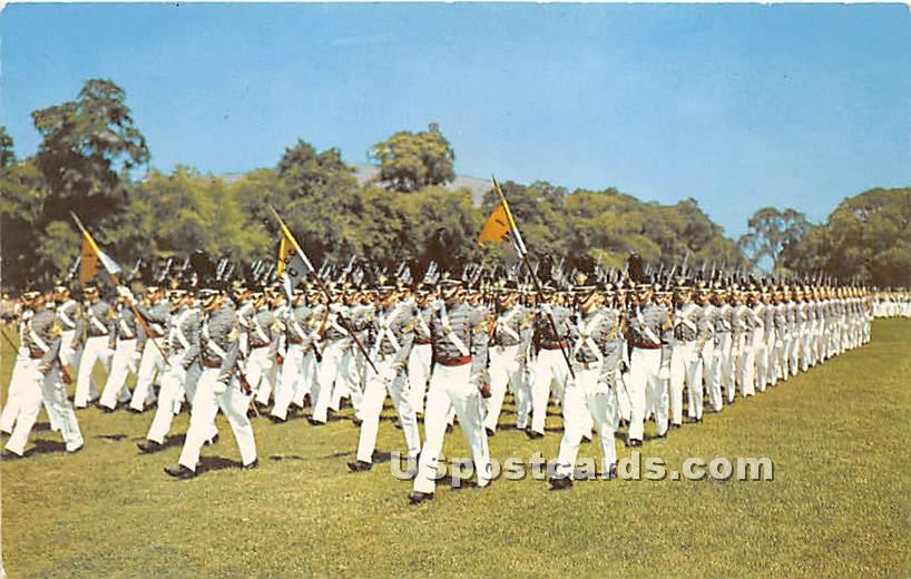 Corps on Parade - West Point, New York NY Postcard