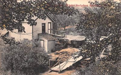 Bridge White Sulphur Springs, New York Postcard