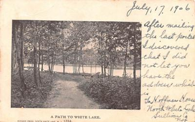 A Path White Lake, New York Postcard