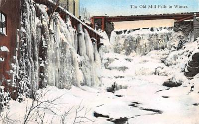 The Old Mill Falls White Lake, New York Postcard