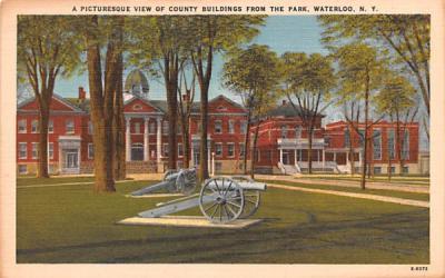 County Buildings Waterloo, New York Postcard